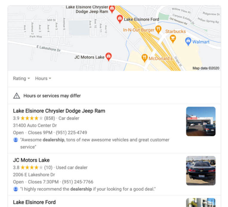 Where to find tour in Google Maps